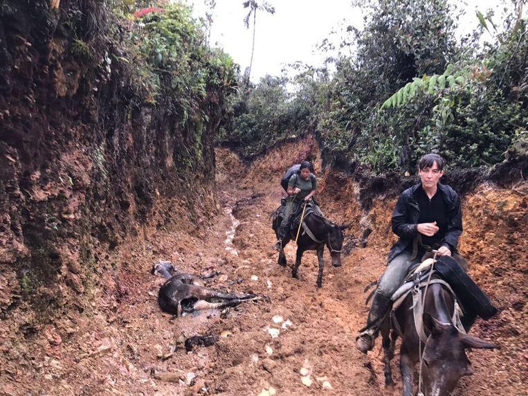 In Colombia op tocht met FARC-rebellen.   Beeld Alex Tieleman