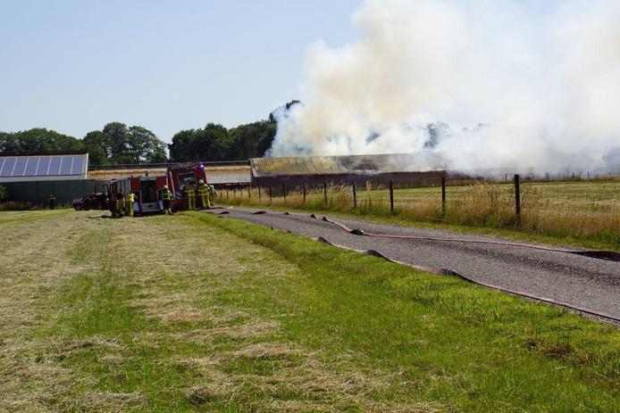 De brand in Terborg.