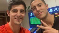 """Courtois heet maatje Hazard welkom bij """"beste club ter wereld"""""""