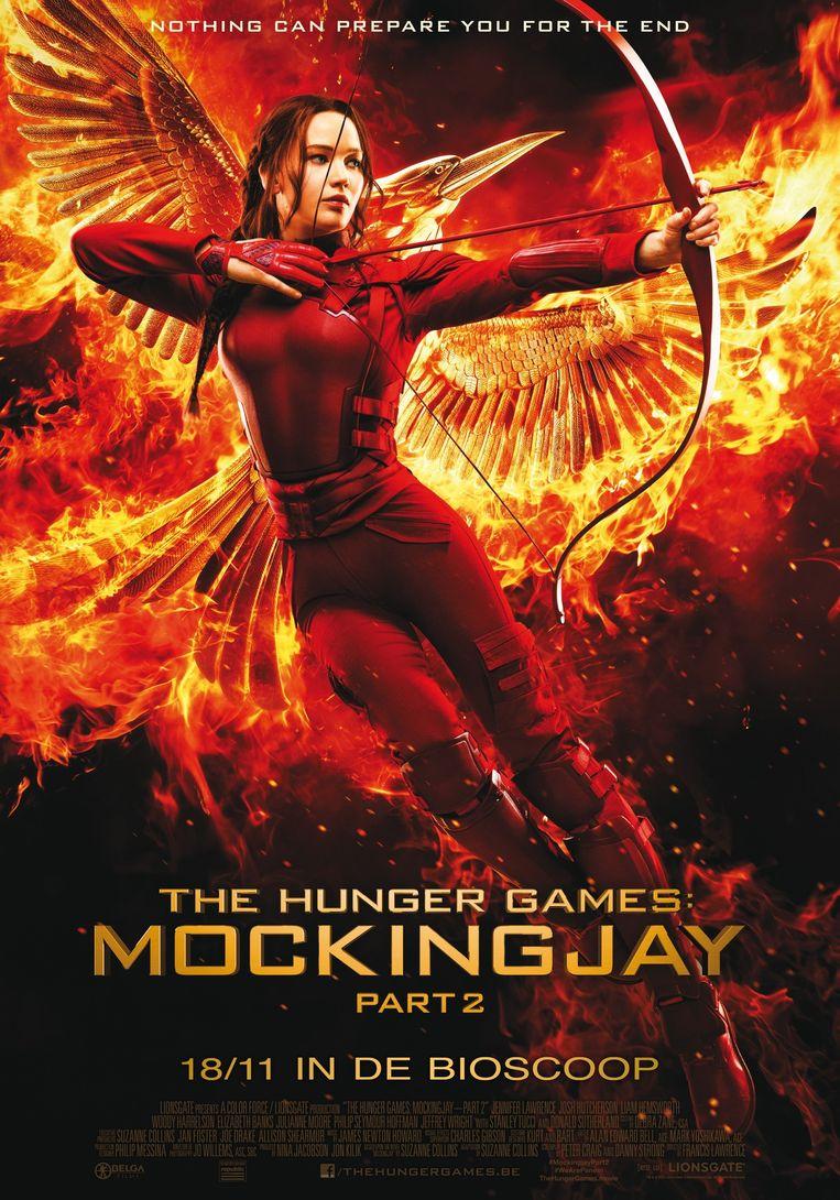 De 'aanstootgevende' poster met Jennifer Lawrence. Beeld rv