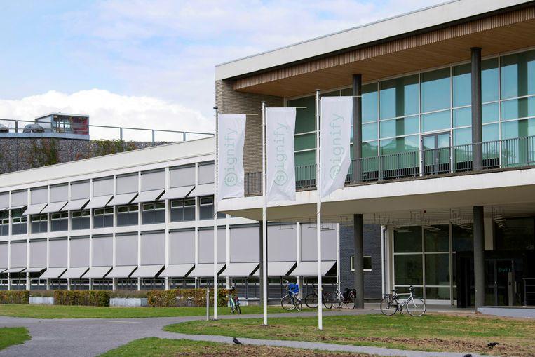 Het hoofdkantoor van Signify in Eindhoven. Beeld REUTERS