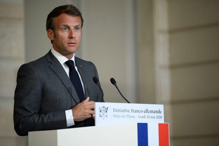 Frans president Emmanuel Macron. Beeld Photo News