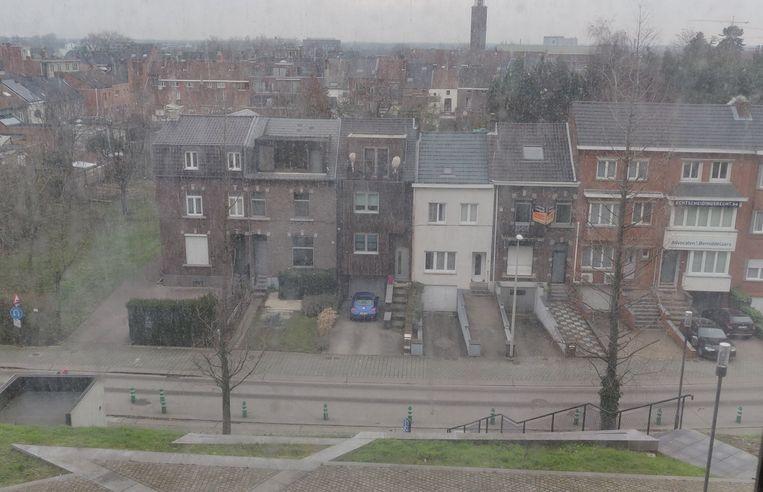 Een luchtfoto uit Hasselt: geen vlokje sneeuw te zien