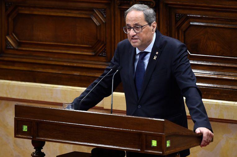 Catalaanse premier Quim Torra. Beeld AFP