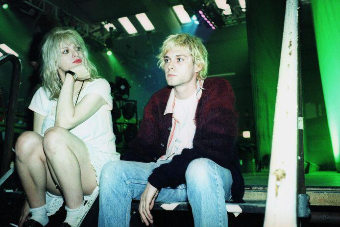 Met zijn lief Courtney Love. De twee hadden een stormachtige relatie.
