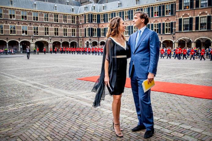 Thierry Baudet met vriendin Davide Heijmans tijdens Prinsjesdag 2019. Foto: Patrick van Katwijk