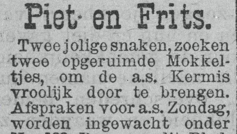 Rotterdamsch Nieuwsblad, 1903 Beeld Instagram