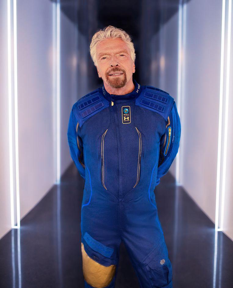 Branson in een eerder interview: 'Ik vond het jammer dat noch Rusland noch de Verenigde Staten geïnteresseerd waren in het toegankelijk maken van ruimtereizen voor miljoenen mensen.' Beeld Virgin