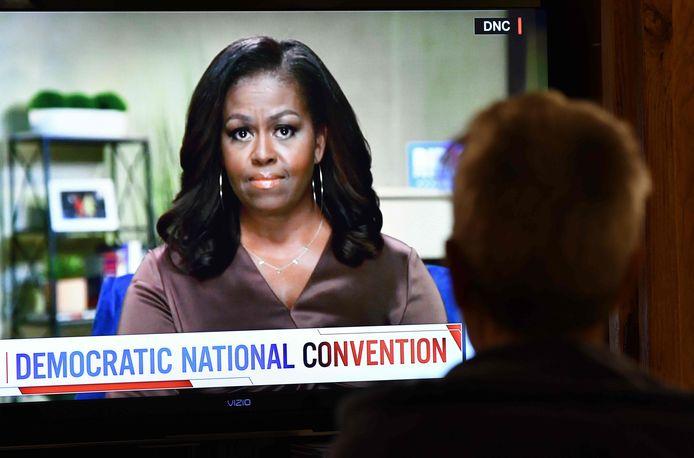 L'ancienne Première dame Michelle Obama s'est exprimée pendant une petite vingtaine de minutes dans un message préenregistré.