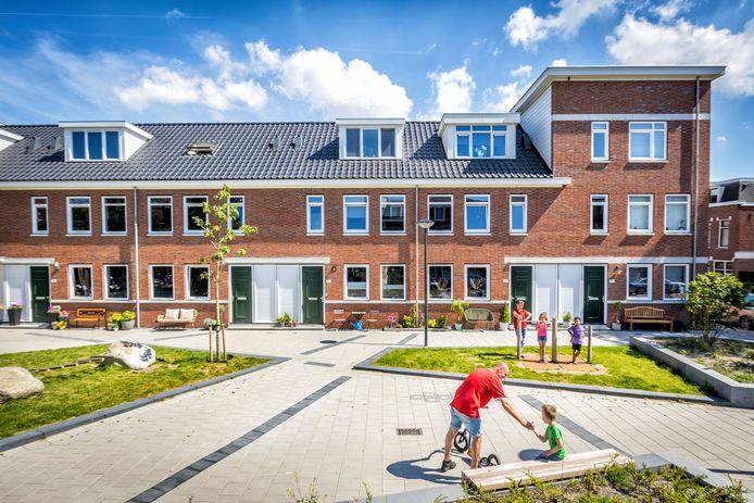 Nieuwbouwproject Het Gewilde Westen in Schiedam-West. De huizenprijzen verdubbelden hier in twee jaar tijd.