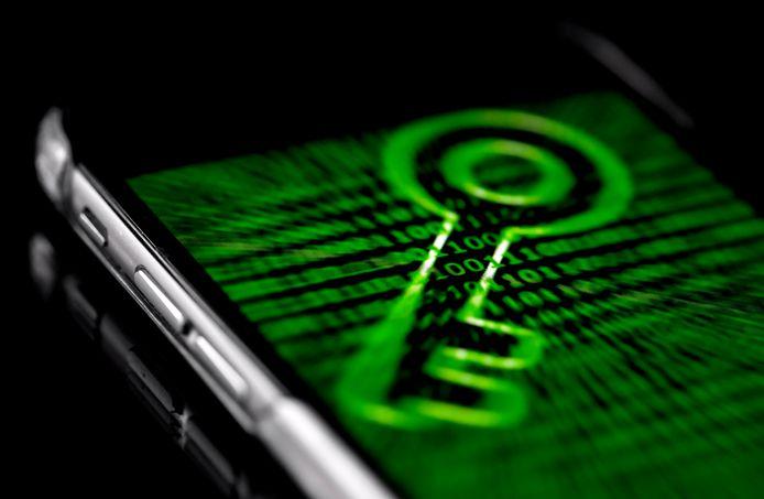 Een versleutelde Blackberry.