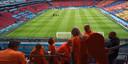 Apeldoorner Herman Talstra zit in de Amsterdam Arena tijdens de eerste EK-wedstrijd van Nederland tegen Oekraine.