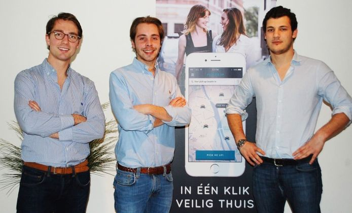 Olivier de Clercq, Nelson Dheedene en Tom Goossens ontwikkelden de app.