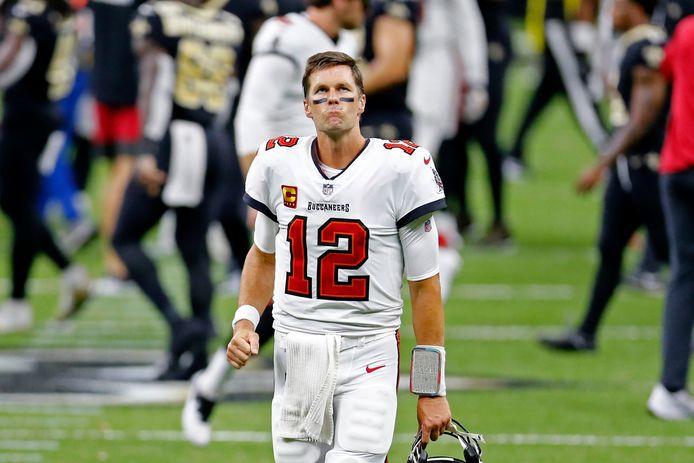 Tom Brady bij zijn debuut voor Tampa Bay Buccaneers.