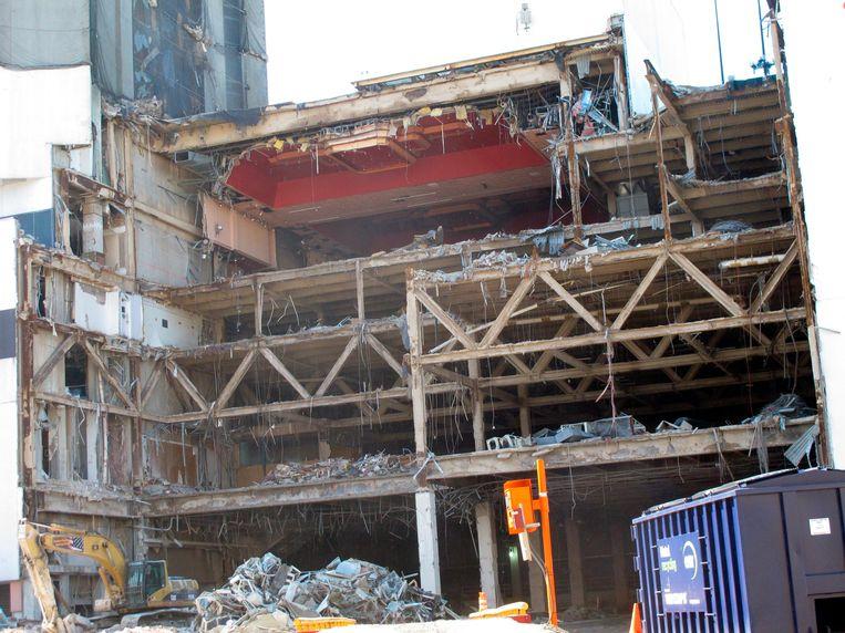 Het deels al afgebroken Trump Plaza Hotel & Casino in Atlantic City, New Jersey. Beeld AP
