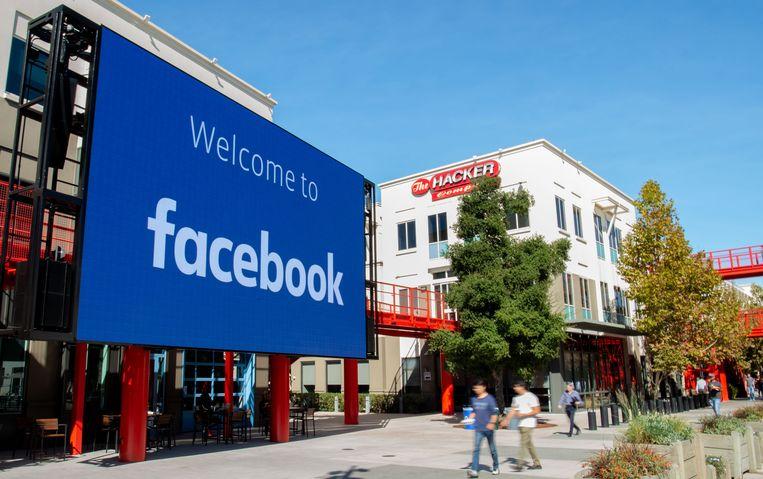 Het hoofdkantoor van Facebook in Menlo Park, California. Beeld AFP