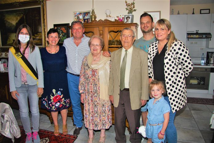 Emmy Van Eeckhaut en Jozef Verleysen vierden hun briljanten jubileum.
