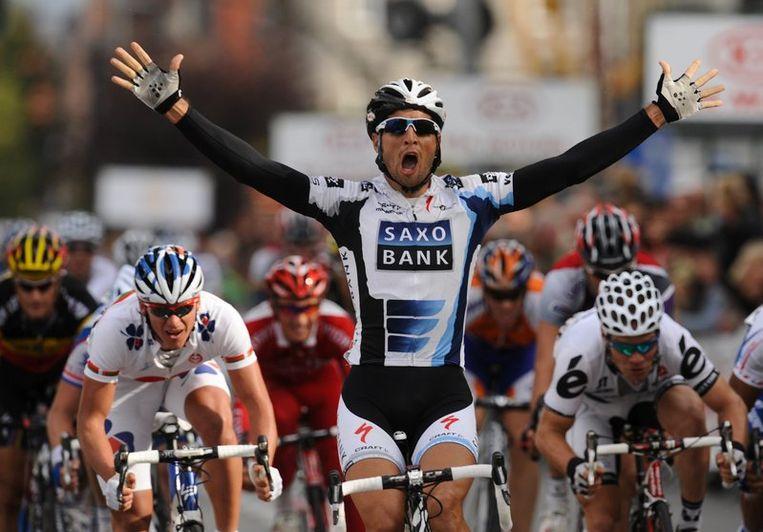 De etappezege was een kolfje naar de hand van de Spanjaard Juan Jose Haedo. Beeld UNKNOWN