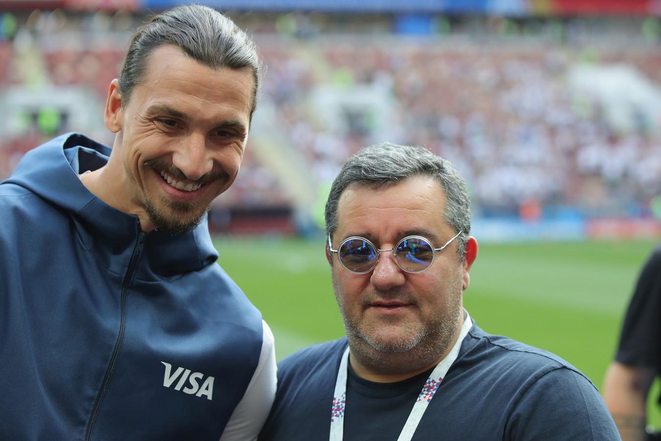 Mino Raiola en Zlatan Ibrahimovic.