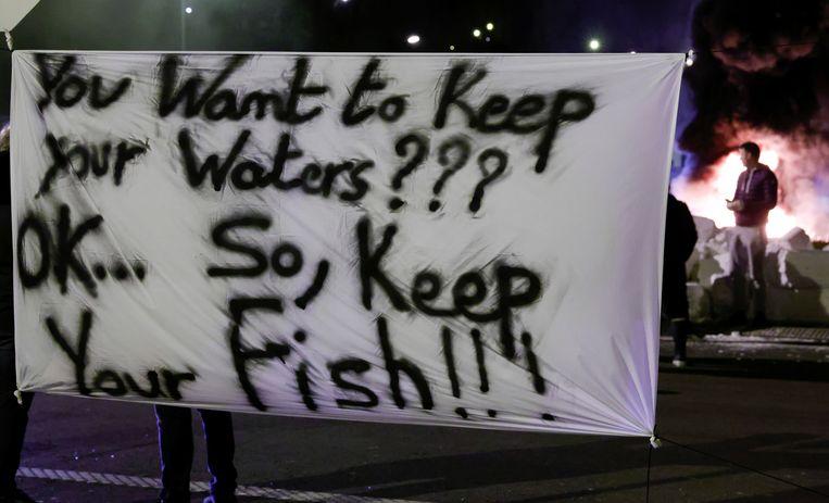 Eerdere actie van Franse vissers gericht tegen het Britse beleid. Beeld REUTERS