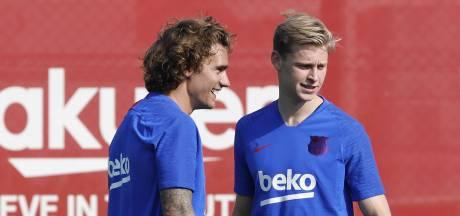 De Jong 'ontgroend' tijdens eerste training bij Barcelona