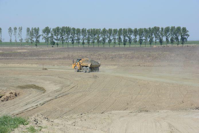 De grondwerken in het gebied zijn volop aan de gang.