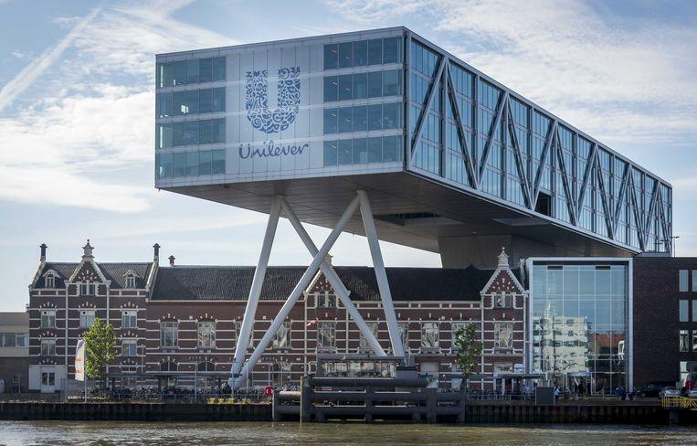 Unilever in Rotterdam drong aan op afschaffing van de dividendbelasting. Beeld ANP