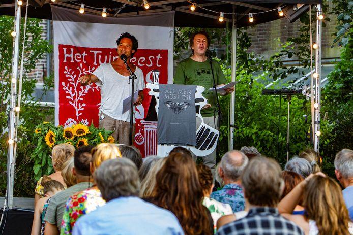 TUINFEEST DEVENTER Ingmar Heytze(groene shirt) en Thomas Molmann