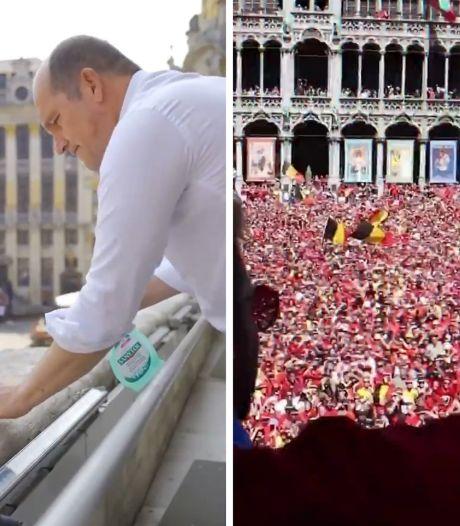 Philippe Close a fait le grand nettoyage et est prêt à accueillir les diables sur le balcon de l'hôtel de ville