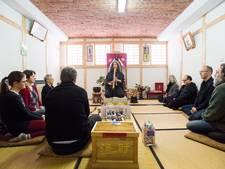 Buddha in Bemmel met Hélènes Japanse bamboefluit