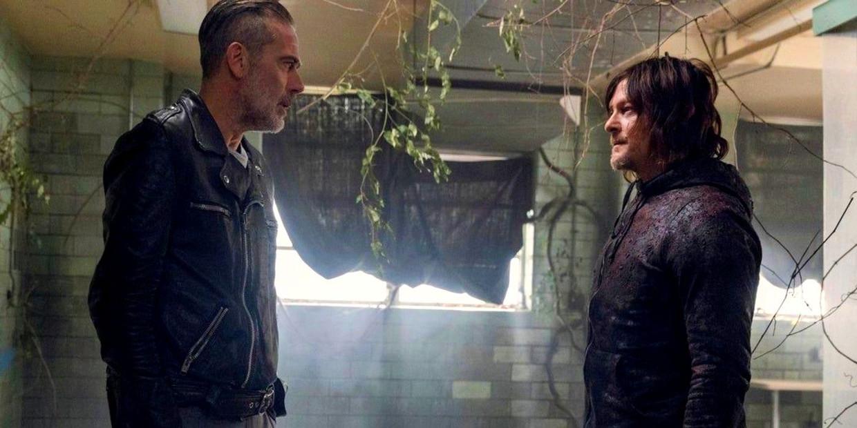 Negan en Daryl in The Walking Dead Beeld FOX