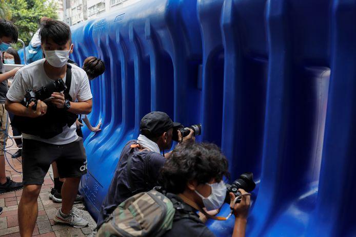 Journalisten in Hongkong.