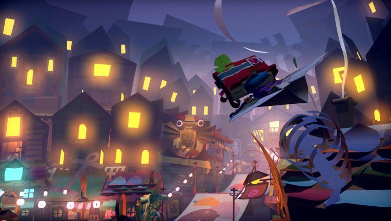 De betoverende papieren wereld van 'Tearaway Unfolded'. Beeld Sony PlayStation