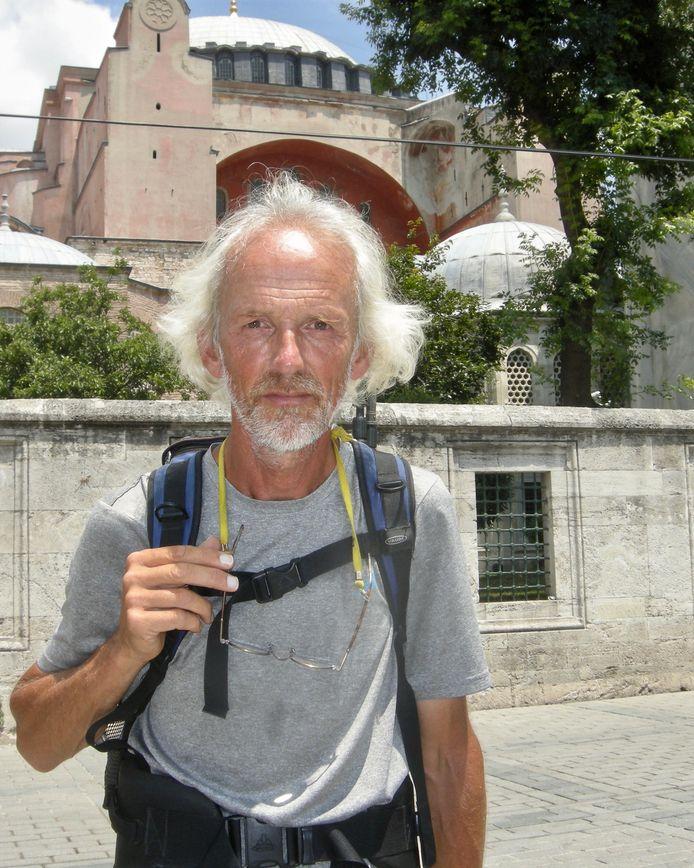 Gerhard Lentink, gefotografeerd direct na zijn aankomst in Istanboel.