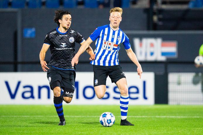 Brian De Keersmaecker afgelopen seizoen in actie voor FC Eindhoven tegen FC Den Bosch.