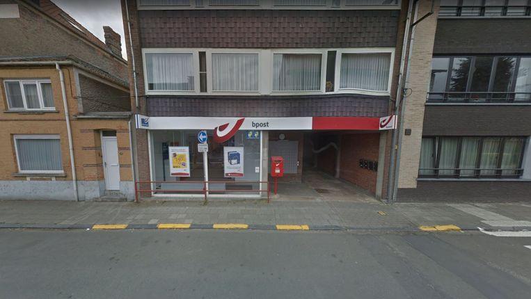 Het bpost-kantoor in de Stadionstraat in Stekene. Beeld Google Maps