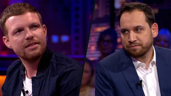 Xander De Rycke  en Jelle Cleymans praten Twitter-rel uit in 'De Cooke & Verhulst Show'