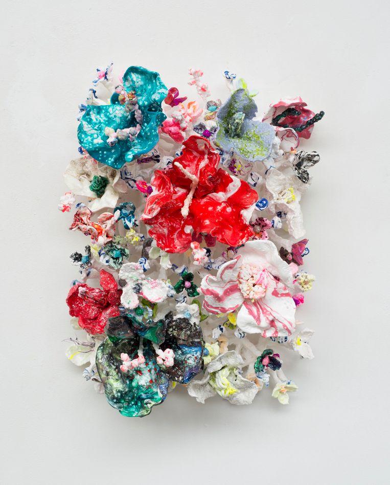 Stefan Gross, Flower Bonanza - Red Aqua (2021), Rademakers Gallery. Beeld Gallery Viewer