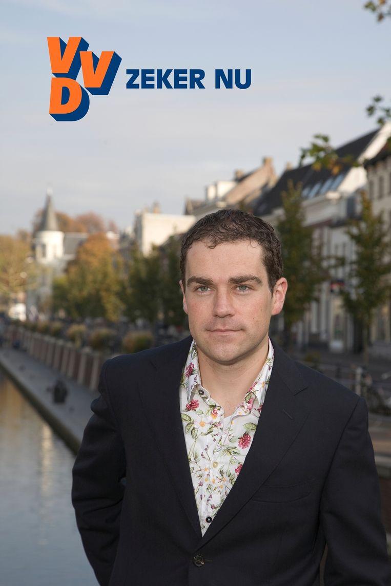 Dijkhoff op een campagneposter van de VVD. Beeld