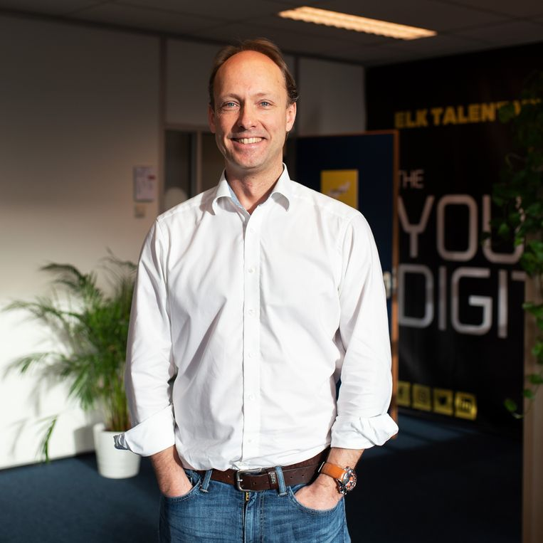 Sjoerd Hauptmeijer, mede-oprichter van The Young Digitals: 'Jongeren zijn geschikt voor onlinemarketing want goed op de hoogte van trends.  Beeld Sabine van Wechem