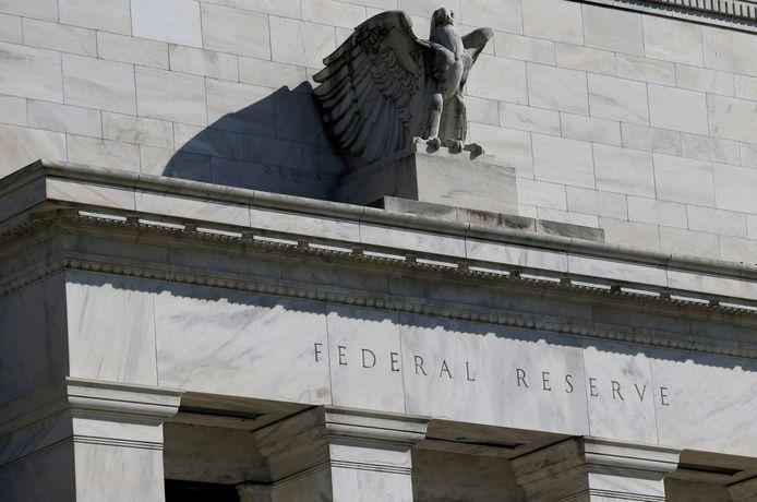 Het gebouw van de centrale bank in Washington.