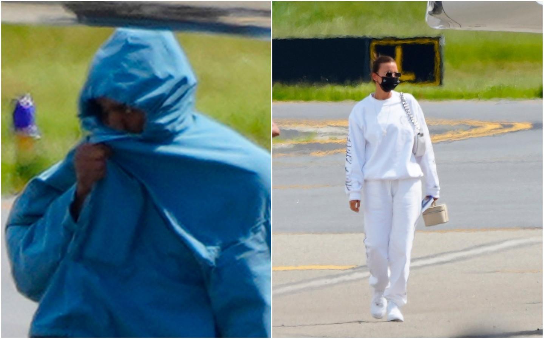 Kanye West et Irina Shayk de retour de leur escapade en France.