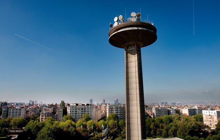 De VRT-toren. Beeld BELGAIMAGE
