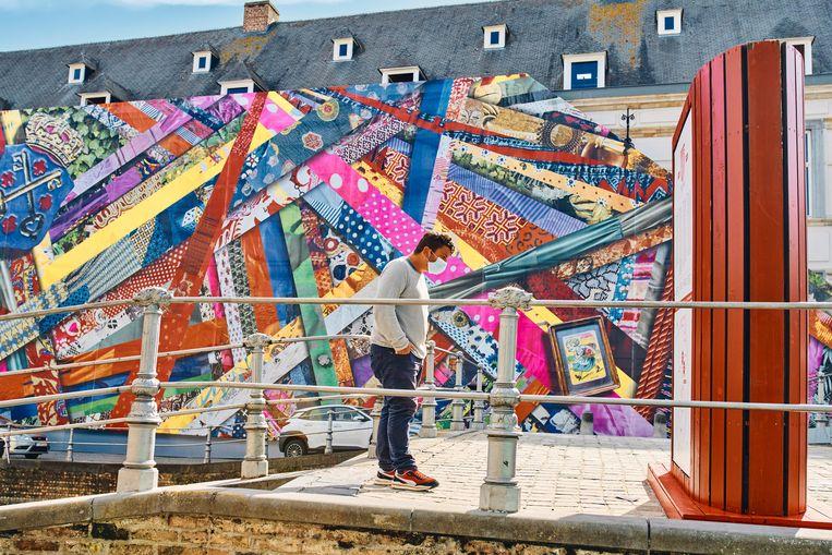 'Happy Coincidences' van Amanda Browder. 'Op zo'n festival toon je niet alleen fantastische kunstwerken, maar ook de mooie plaatsen in je stad.' Beeld Thomas Nolf