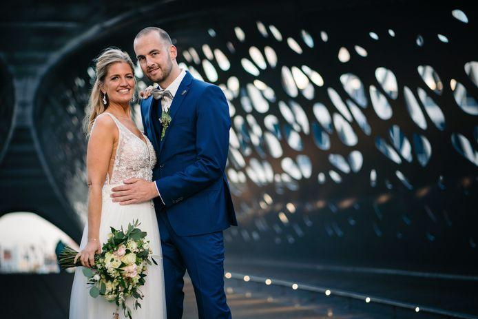 Elke en Tim in 'Blind Getrouwd' in 2019