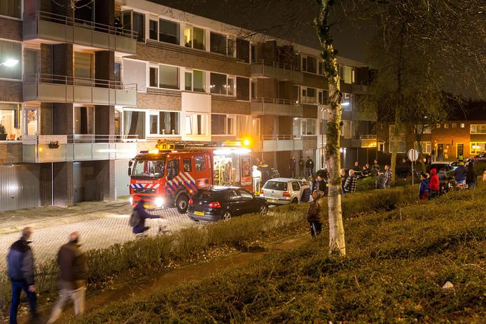 Woningbrand Dr Janssenslaan in Oosterhout.