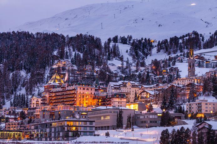 Het mondaine skioord Sankt Moritz