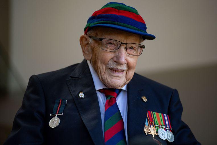 De 100-jarige veteraan Tom Moore. Beeld AP