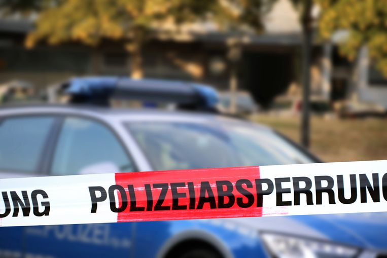 De Duitse politie kreeg hulp uit het buitenland, onder meer uit Nederland. Beeld Getty