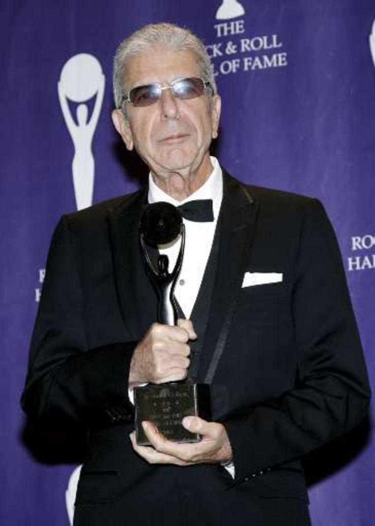 Leonard Cohen, ook opgenomen in de Hall of Fame. Beeld UNKNOWN